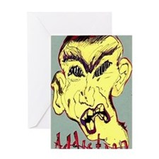 face of addiction Greeting Card