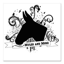 "Black Head Logo Square Car Magnet 3"" x 3"""