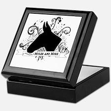 Black Head Logo Keepsake Box