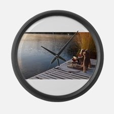 The Fishing Trip Large Wall Clock