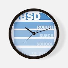 Stripes (Blue) Wall Clock