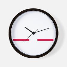 Bold (White) Wall Clock