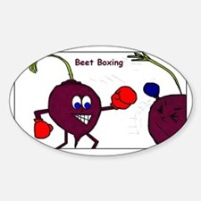 beet boxing Sticker (Oval)