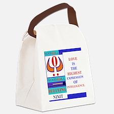 HIGHEST BLU. Canvas Lunch Bag