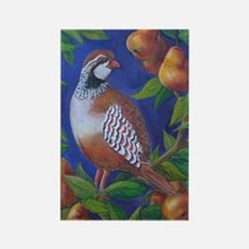 Partridge in a Pear Tree Rectangle Magnet