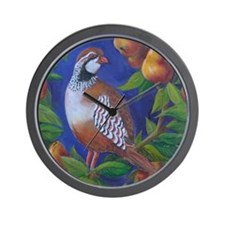 Partridge in a Pear Tree Wall Clock