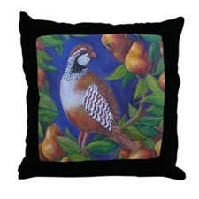 Partridge in a Pear Tree Throw Pillow