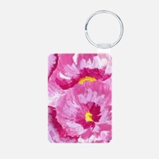 Pretty in Pink Flowers Keychains