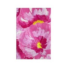 Pretty in Pink Flowers Rectangle Magnet