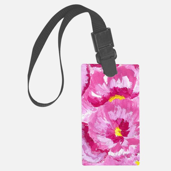 Pretty in Pink Flowers Luggage Tag
