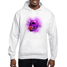 Purple Sugar Skull with Hibiscus Flower Hoodie