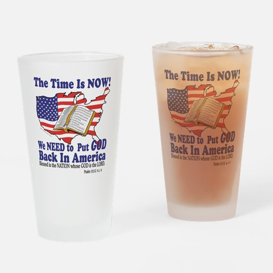 God in America Drinking Glass