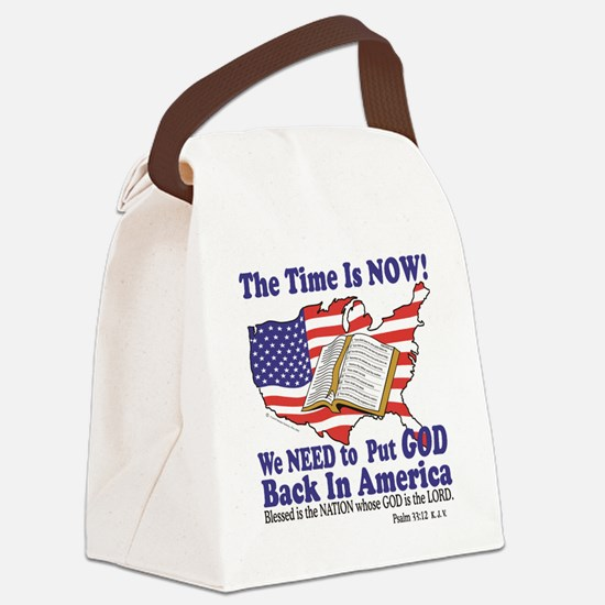 God in America Canvas Lunch Bag