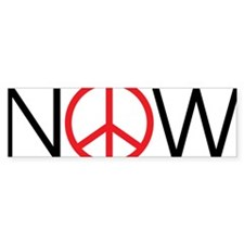 Peace Now Bumper Sticker