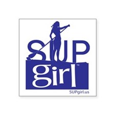 "SUPgirl_T5_blue Square Sticker 3"" x 3"""