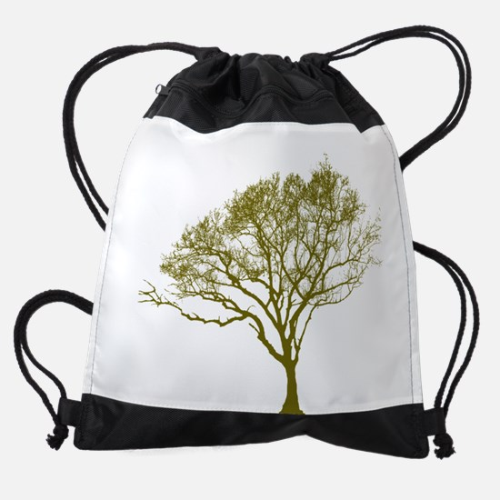 Green Tree Drawstring Bag