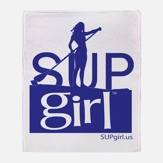 SUPgirl_T5_blue Throw Blanket