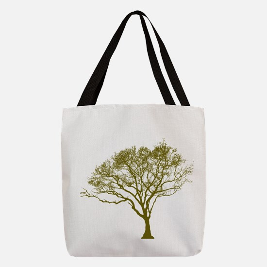 Green Tree Polyester Tote Bag