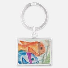 Two fishes Landscape Keychain