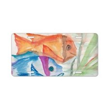 Two fishes Aluminum License Plate
