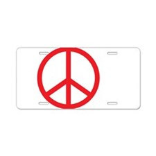 Peace Now 2 Aluminum License Plate
