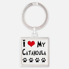 I-Love-My-Catahoula Square Keychain