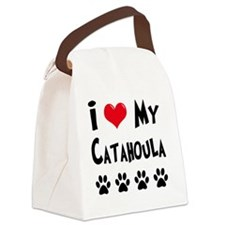 I-Love-My-Catahoula Canvas Lunch Bag
