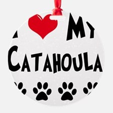 I-Love-My-Catahoula Ornament