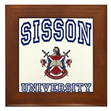 SISSON University Framed Tile
