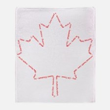 Canada 01 Red Throw Blanket