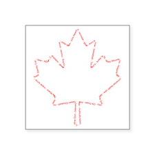 """Canada 01 Red Square Sticker 3"""" x 3"""""""