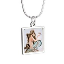 BLK T- HEROUARD MERMAID Silver Square Necklace