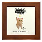 Seriously Pissed Off Cat Framed Tile