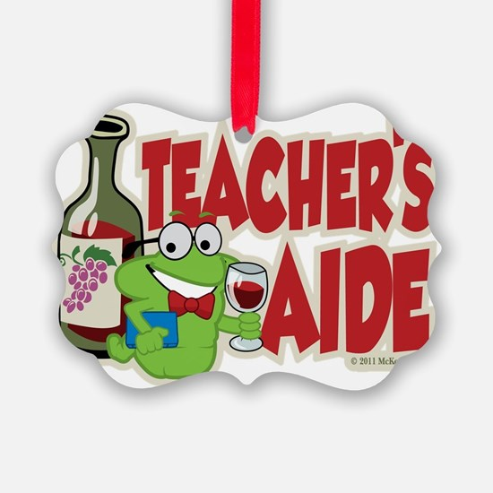 Teachers-Aide-Wine Ornament
