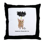 Seriously Pissed Off Cat Throw Pillow