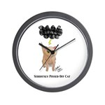 Seriously Pissed Off Cat Wall Clock