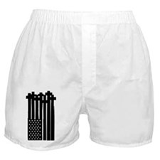 American Flag Crosses Boxer Shorts