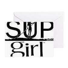 SUPgirl_T2_black Greeting Card