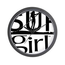 SUPgirl_T2_black Wall Clock
