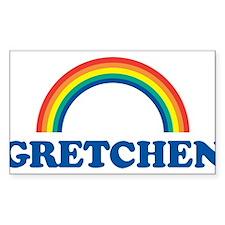 GRETCHEN (rainbow) Rectangle Decal