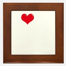 I-Love-My-Catahoula-dark Framed Tile