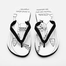 4754_organ_cartoon Flip Flops