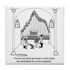 4754_organ_cartoon Tile Coaster