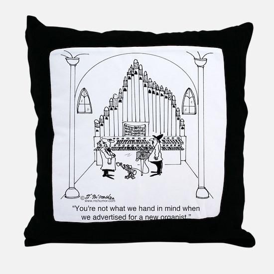 4754_organ_cartoon Throw Pillow