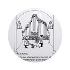 4754_organ_cartoon Round Ornament