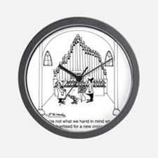 4754_organ_cartoon Wall Clock