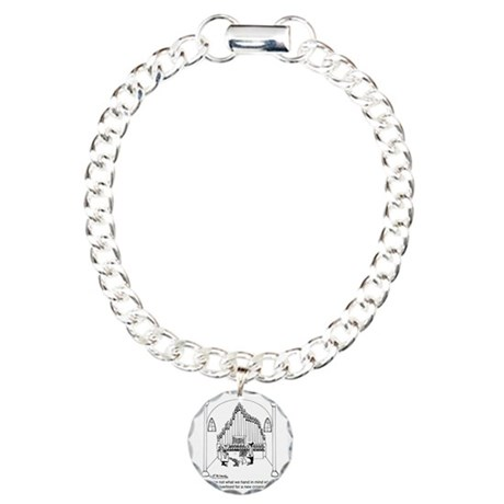 4754_organ_cartoon Charm Bracelet, One Charm