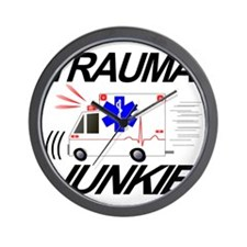TRAUMA JUNKIE Wall Clock