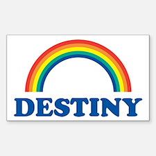 DESTINY (rainbow) Rectangle Decal