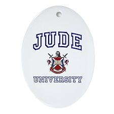 JUDE University Oval Ornament